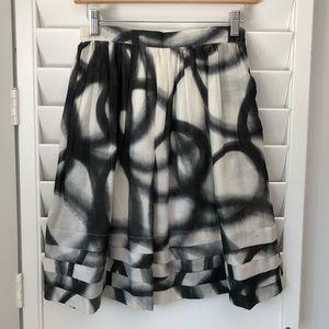 Moschino black and white print skirt